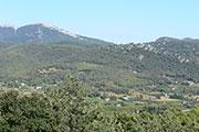 Les collines vues de la terrasse